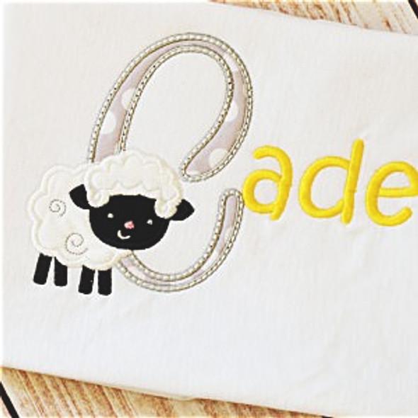 Lamb Alpha Machine Embroidery Design
