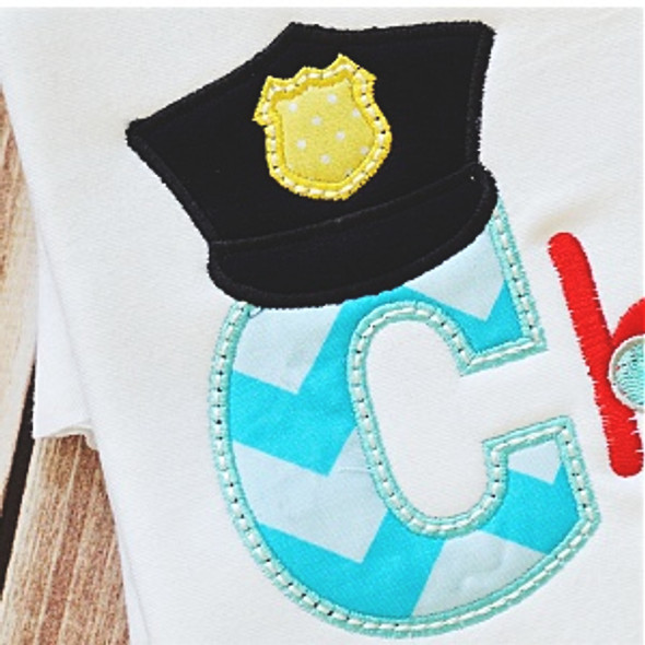 Police Alpha Machine Embroidery Design