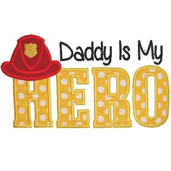 Fireman Dad Applique Machine Embroidery Design