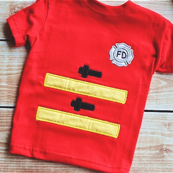 Fireman Applique Set Machine Embroidery Design