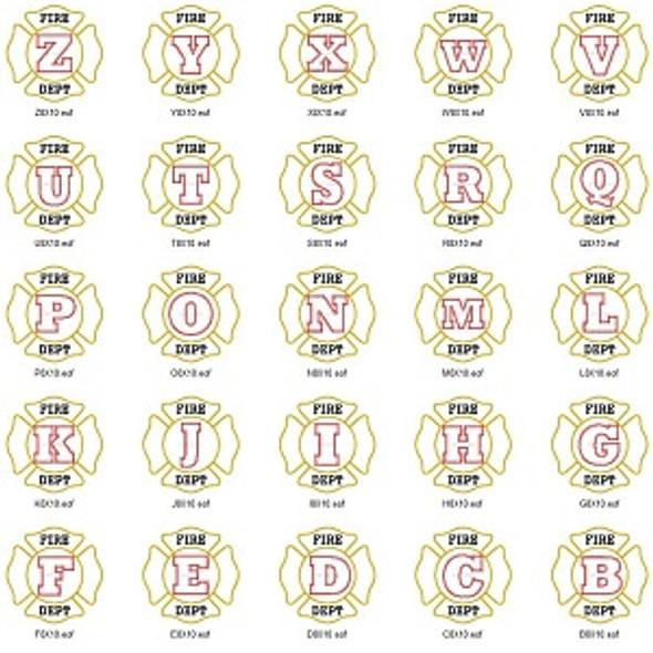Maltese Cross Alphabet Machine Embroidery Design