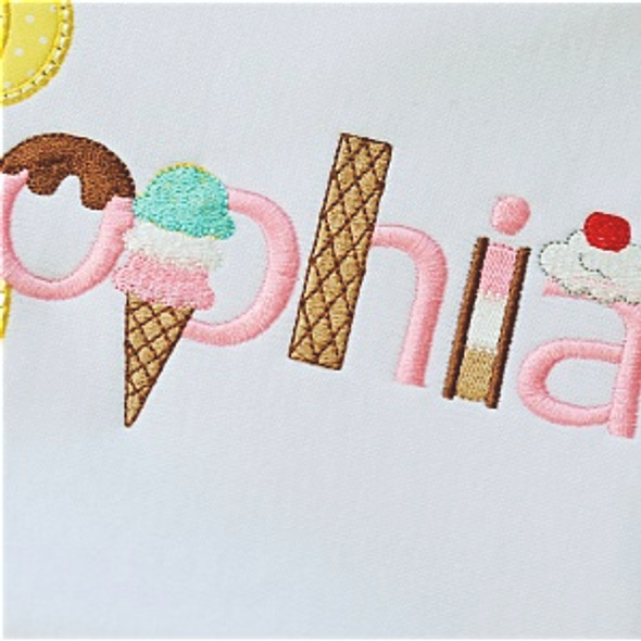Scoops Font Machine Embroidery Design