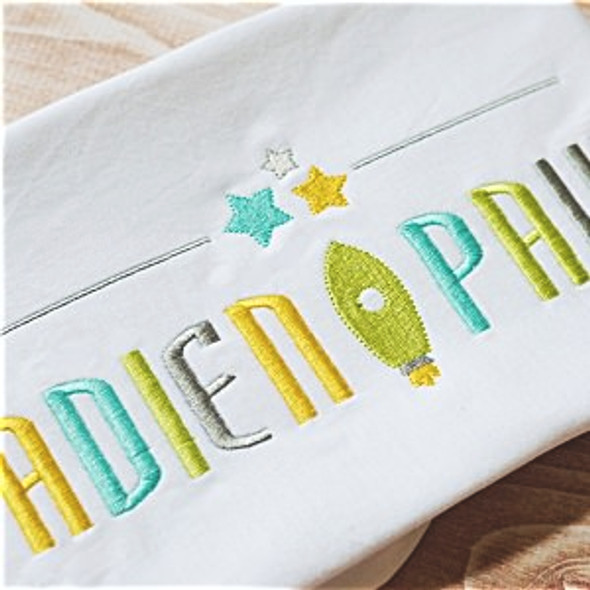 Galaxy Font Set Machine Embroidery Design