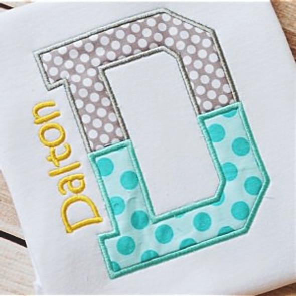 Team Applique Alphabet Machine Embroidery Design