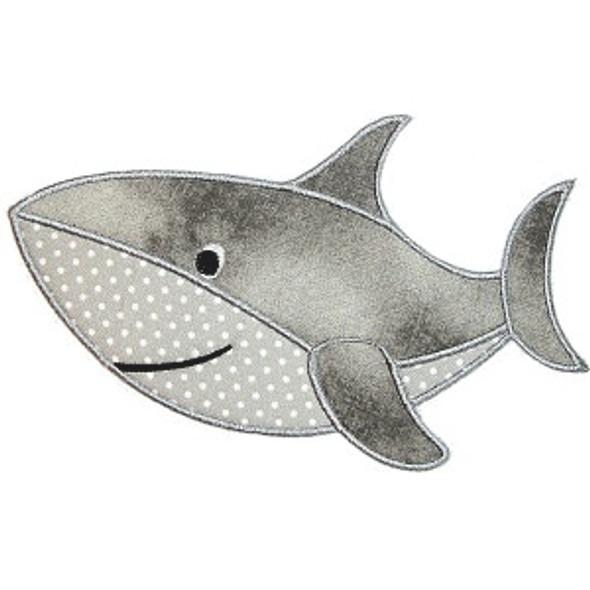 Shark Applique Machine Embroidery Design