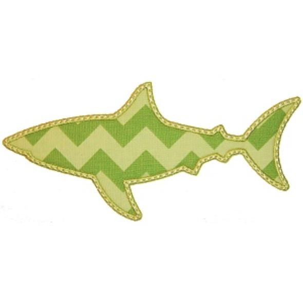 Shark Silhouette Applique Machine Embroidery Design