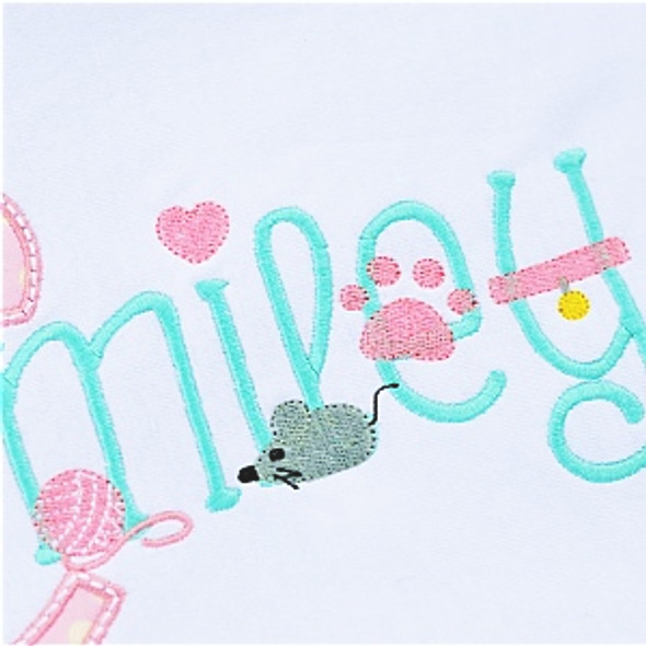 Kitty Embroidery Font Machine Embroidery Design