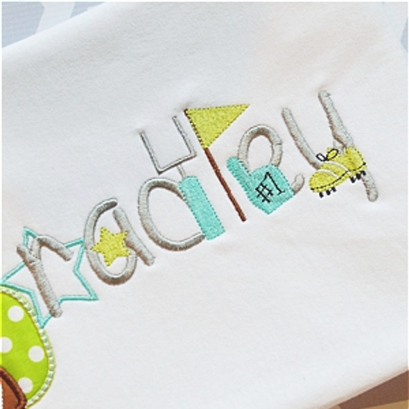 Football Embroidery Font Machine Embroidery Design