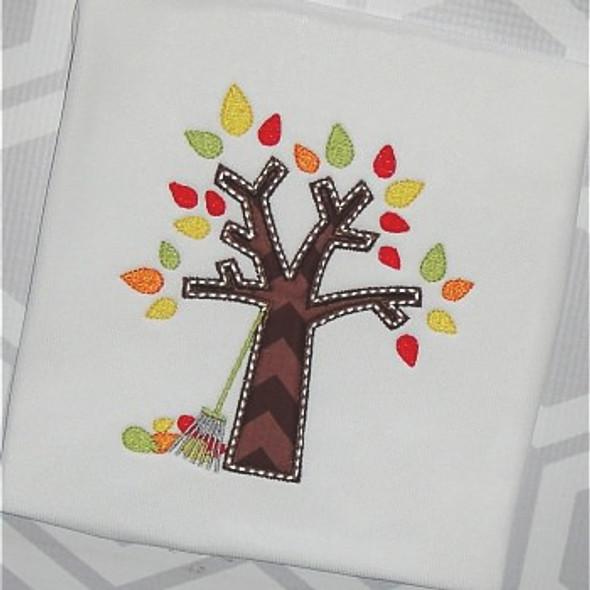 Autumn Tree Machine Embroidery Design