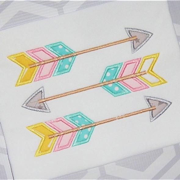 Three Arrows 2 Machine Embroidery Design