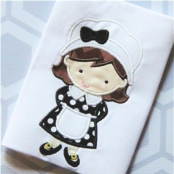 Pilgrim Girl 2 Applique Machine Embroidery Design