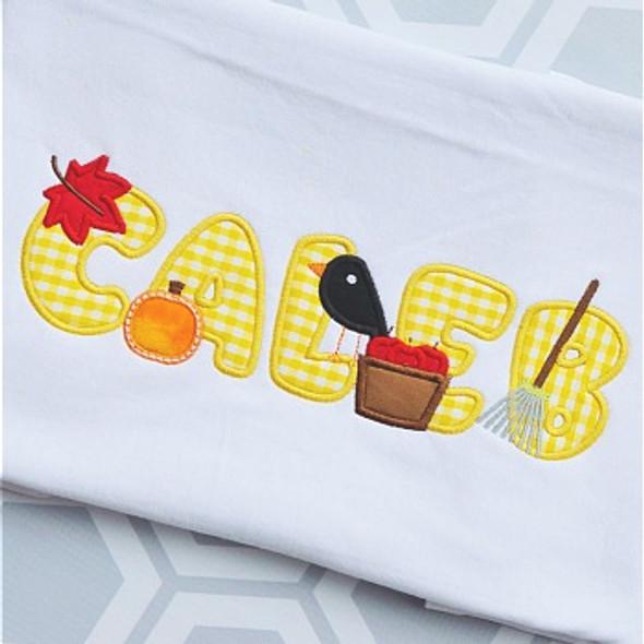 Mini Fall Alpha Machine Embroidery Design