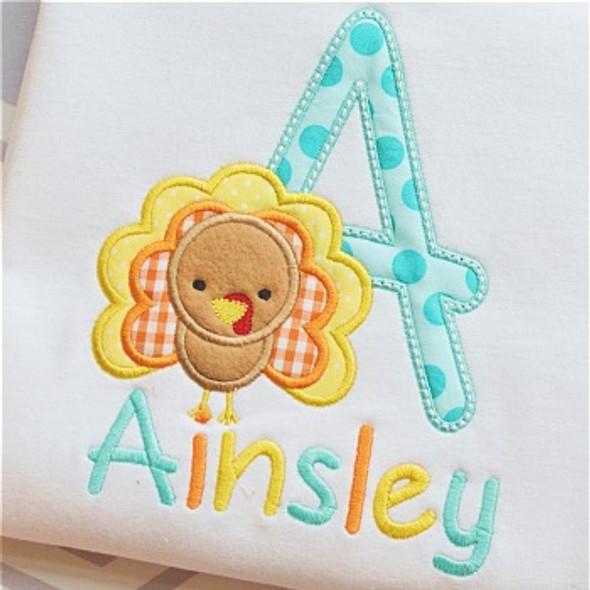 Turkey 2 Alpha Machine Embroidery Design