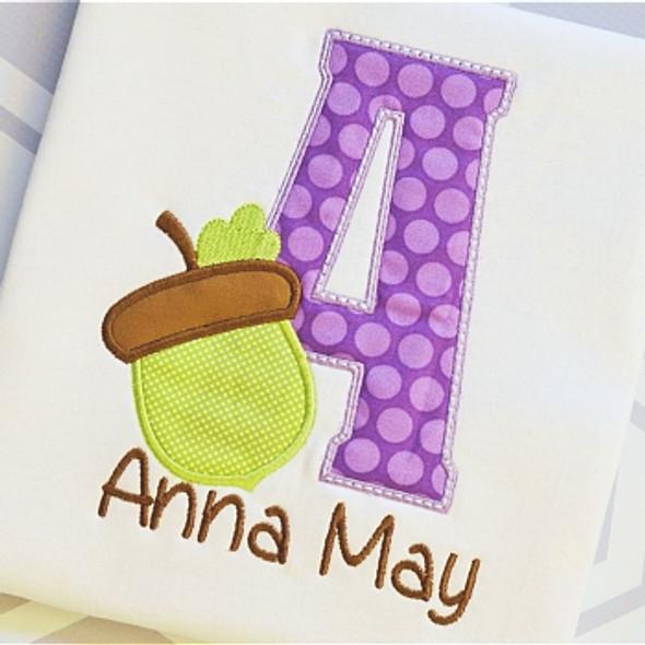 Acorn 2 Alpha Machine Embroidery Design