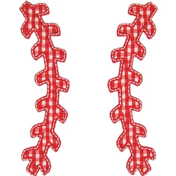 Baseball Laces Applique