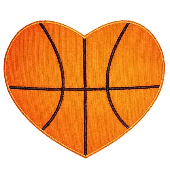 Basketball Heart Applique