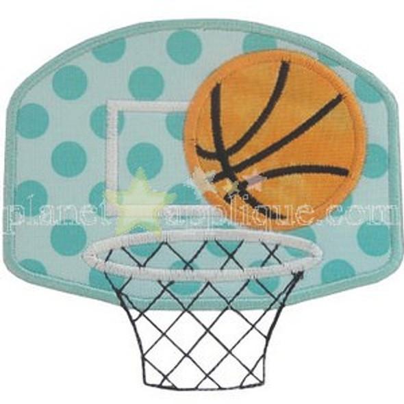 Basketball Hoop Applique Machine Embroidery Design
