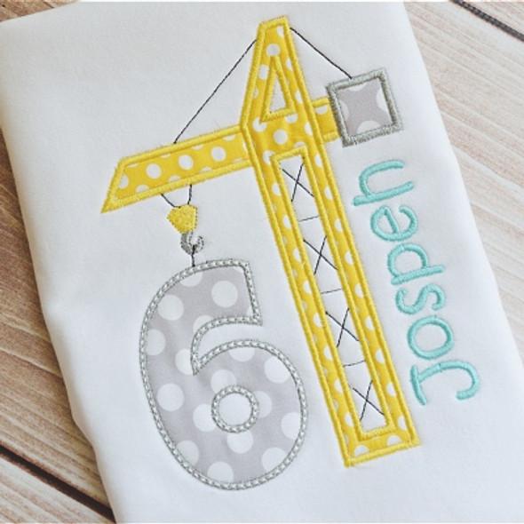 Birthday Builder Numbers Machine Embroidery Design