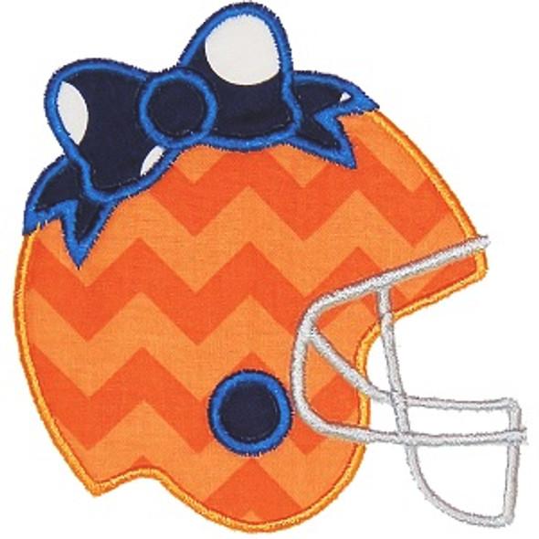 Bow Helmet Applique Machine Embroidery Design