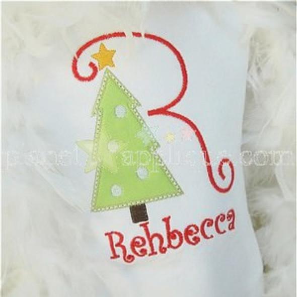 Christmas Tree 2 Alpha Machine Embroidery Design