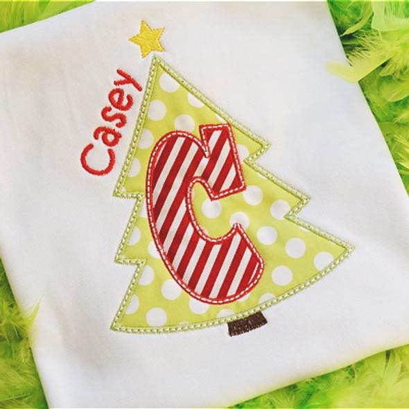 Christmas Tree 3 Alpha Machine Embroidery Design