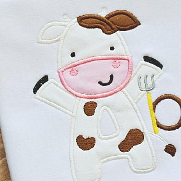 Cow Alpha Machine Embroidery Design