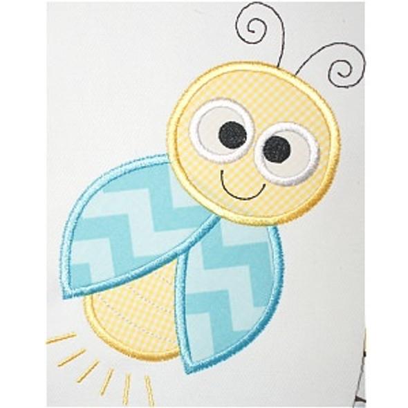 Cute Lightning Bug Machine Embroidery Design