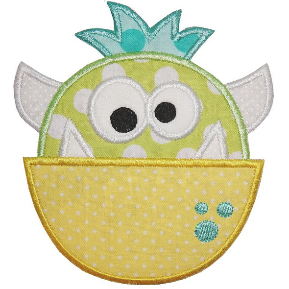 Cute Monster Machine Embroidery Design