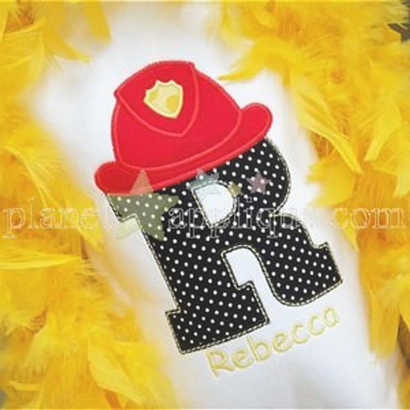 Fireman Alpha Machine Embroidery Design