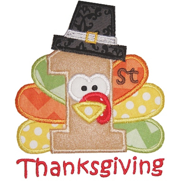 First Thanksgiving 2 Machine Embroidery Design