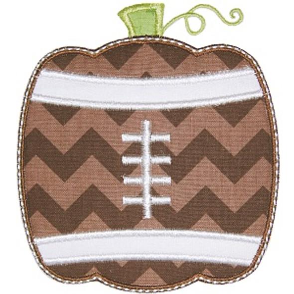 Football Pumpkin Machine Embroidery Design