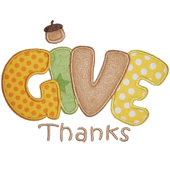 Give Thanks 2 Machine Embroidery Design