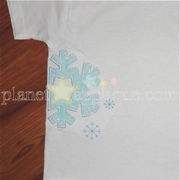 Half Snowflake Machine Embroidery Design
