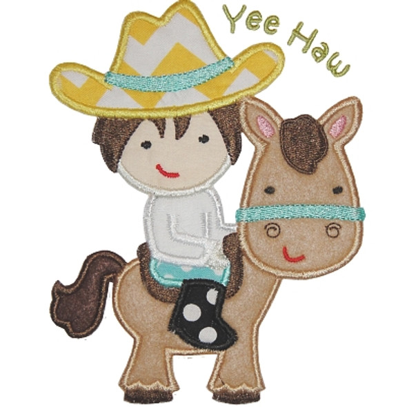 Horse Cowboy Applique