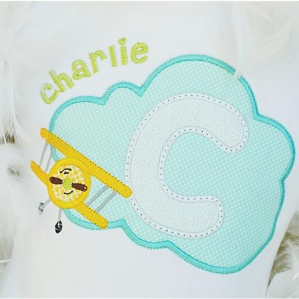 Lil Airplane Alpha Machine Embroidery Design