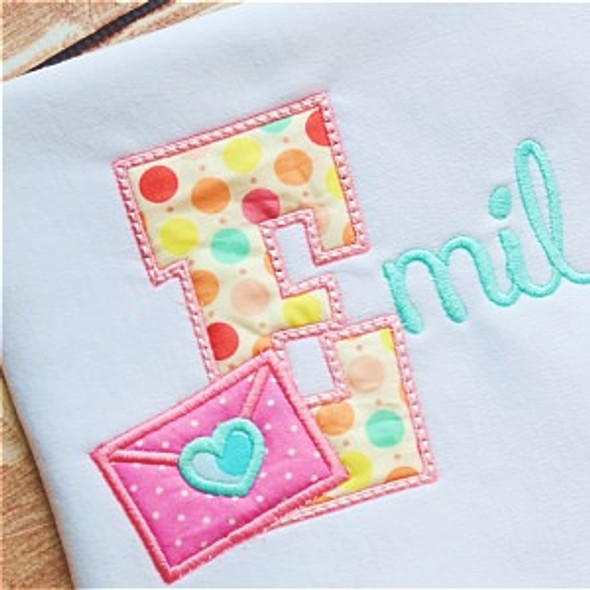 Love Notes Alpha Machine Embroidery Design