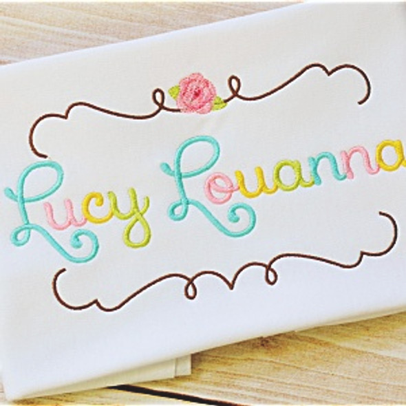 Lucy Font Set Machine Embroidery Design