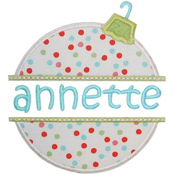 Ornament Name Plate Machine Embroidery Design