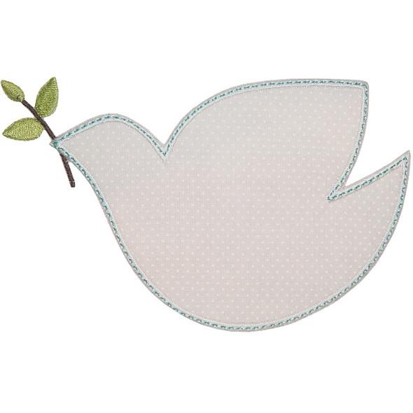 Peace Dove Applique Machine Embroidery Design