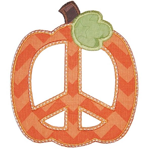 Peace Pumpkin 2 Machine Embroidery Design