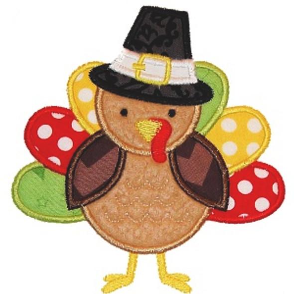 Pilgrim Turkey 2 Machine Embroidery Design