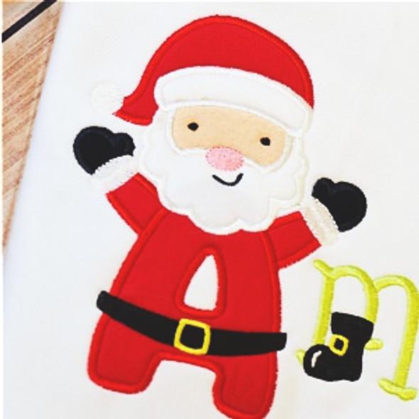 Santa Claus Alpha Machine Embroidery Design