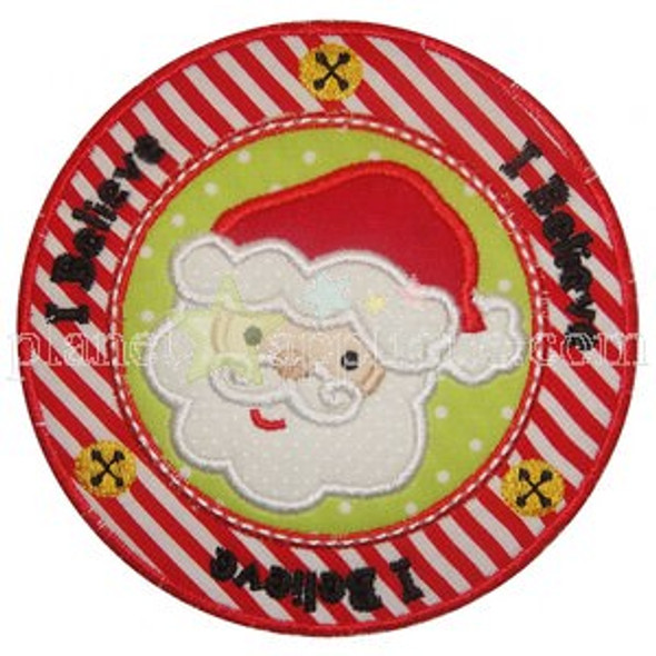 Santa Seal Applique Machine Embroidery Design