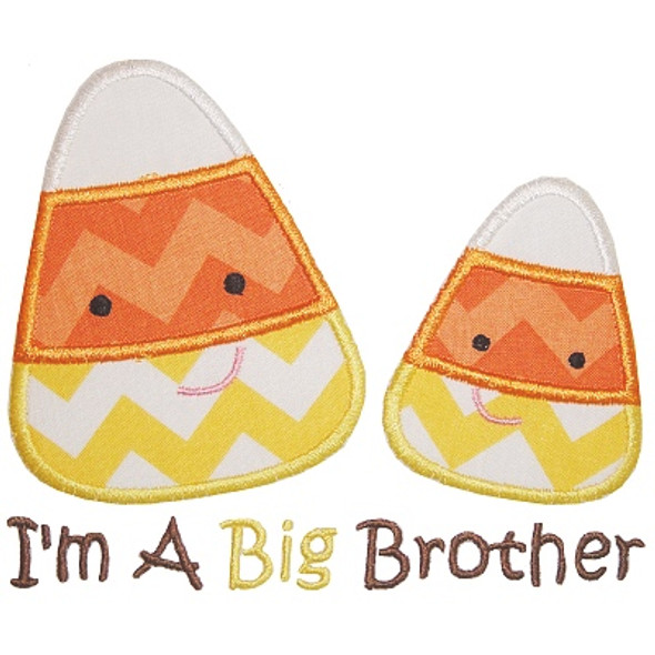 Sibling Candy Corn Machine Embroidery Design