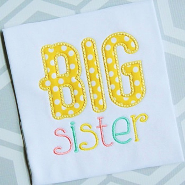 Sibling Sister 2 Applique Machine Embroidery Design