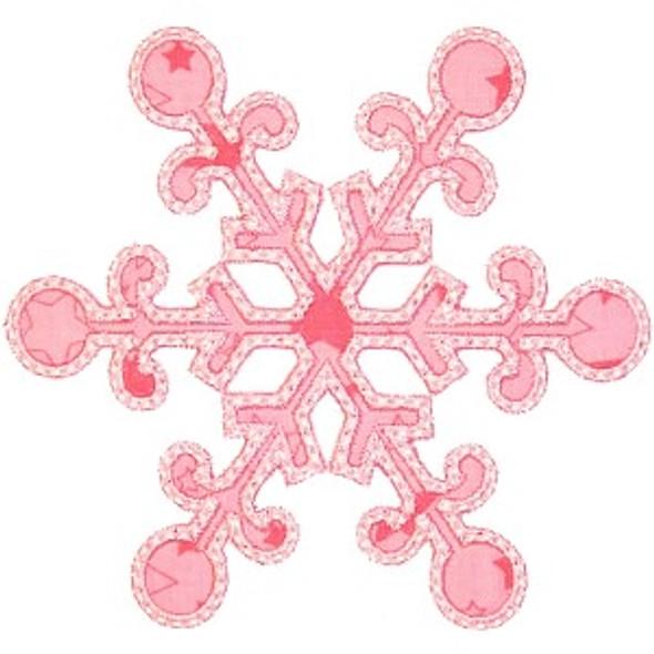Snowflake 5 Applique Machine Embroidery Design