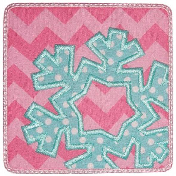 Snowflake Patch Applique Machine Embroidery Design