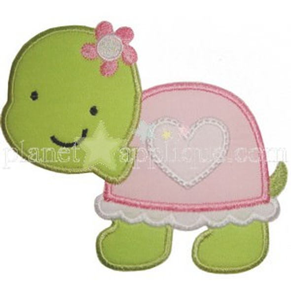 Valentine Girl Turtle Machine Embroidery Design