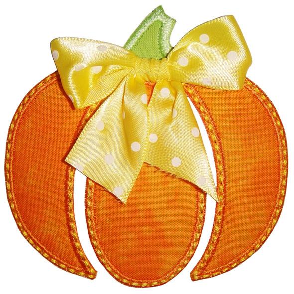 Whimsical Pumpkin Applique Machine Embroidery Design