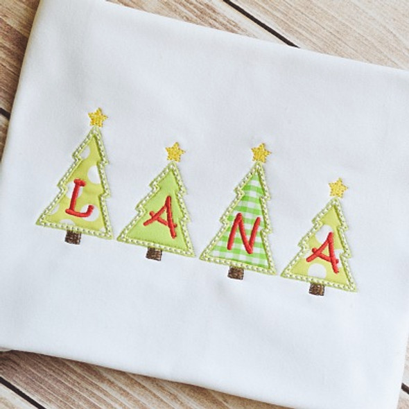 Tiny Tree Alpha Machine Embroidery Design